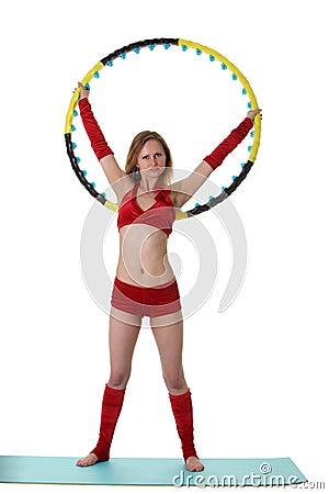 Woman with hula-hoop