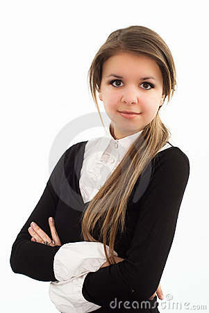 Free Woman In A Black Business Suit Royalty Free Stock Photos - 19045688