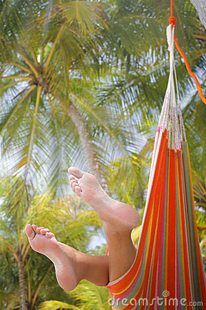 Free Woman In A Hammock Stock Image - 6168591