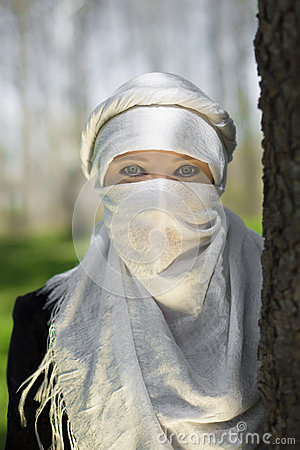 Free Woman In A Niqab Stock Image - 66471461