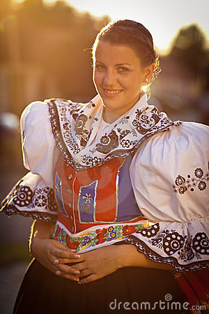 Free Woman In A Richly Decorated Ceremonial Folk Dress Royalty Free Stock Images - 23729729