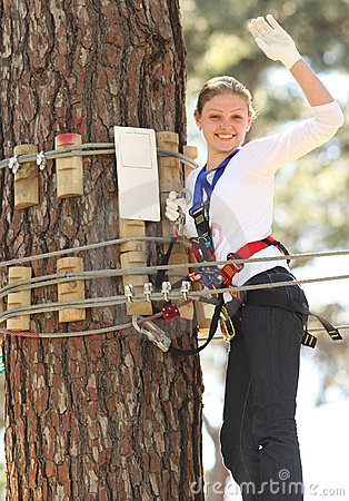 Free Woman In Adventure Park Stock Photos - 13471913
