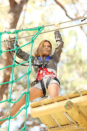 Free Woman In Adventure Park Stock Image - 13472311
