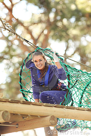 Free Woman In Adventure Park Royalty Free Stock Image - 13472416