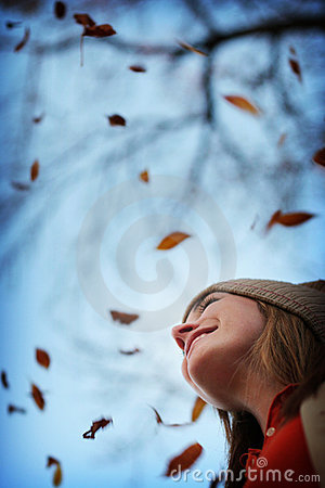 Free Woman In Autumn Stock Photos - 295393