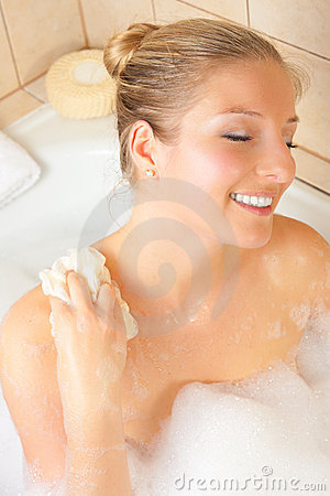 Free Woman In Bath Royalty Free Stock Image - 14435366