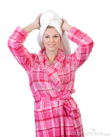 Free Woman In Bathrobe Stock Images - 12120394