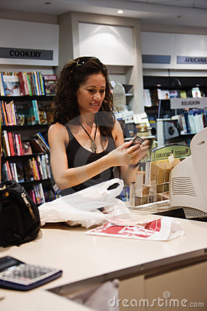 Free Woman In Bookshop Royalty Free Stock Image - 4543726