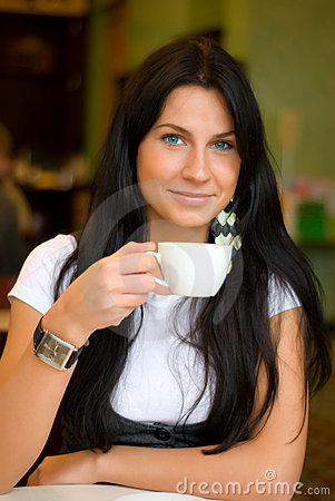 Free Woman In Cafe Royalty Free Stock Image - 8241296