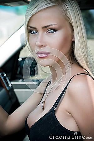 Free Woman In Car Stock Photo - 15302450