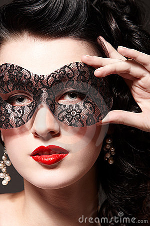 Free Woman In Carnival Mask Stock Photography - 12961242