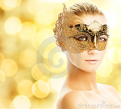 Free Woman In Carnival Mask Stock Photography - 6983702