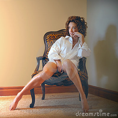 Free Woman In Chair Royalty Free Stock Photography - 5248947