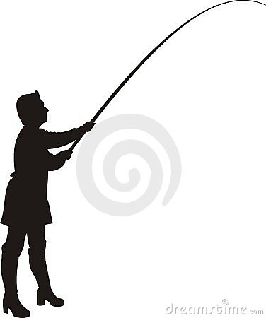 Free Woman In Fishing. Royalty Free Stock Images - 13680089