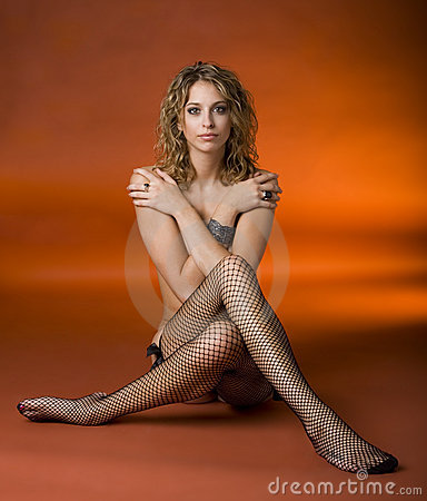 Free Woman In Fishnet Stockings Stock Images - 11351474
