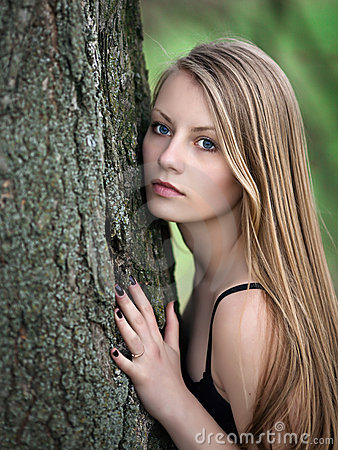 Free Woman In Forest Stock Photos - 16996793