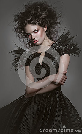 Free Woman In Gothic Fashion Dress Royalty Free Stock Photo - 50076755