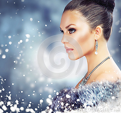 Free Woman In Luxury Fur Coat Stock Images - 28173864