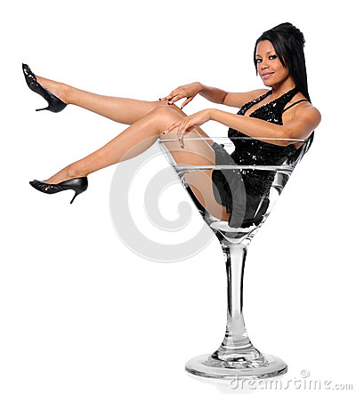 Free Woman In Martini Glass Royalty Free Stock Images - 9995669