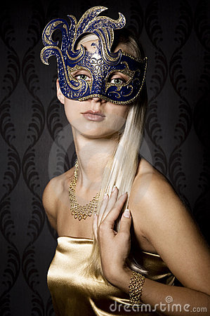 Free Woman In Mask Stock Image - 15186091