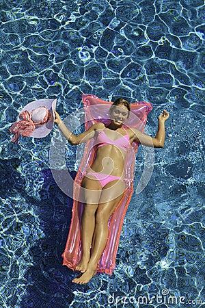 Free Woman In Pink Bikini Floating Stock Photos - 20402853