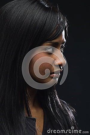 Free Woman In Profile Stock Image - 3180601