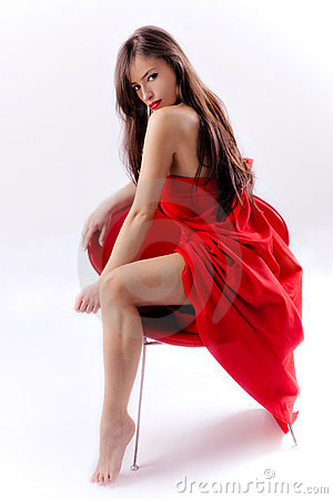 Free Woman In Red Royalty Free Stock Photo - 8299805