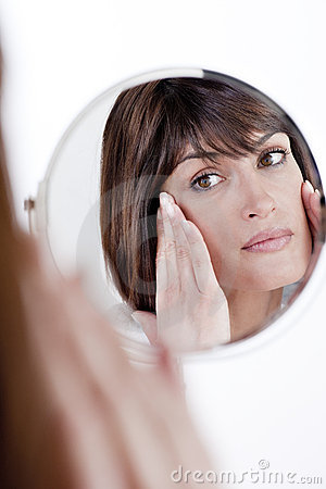 Free Woman In The Mirror Royalty Free Stock Image - 17310636