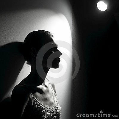 Free Woman In The Spotlight Royalty Free Stock Photography - 13507267