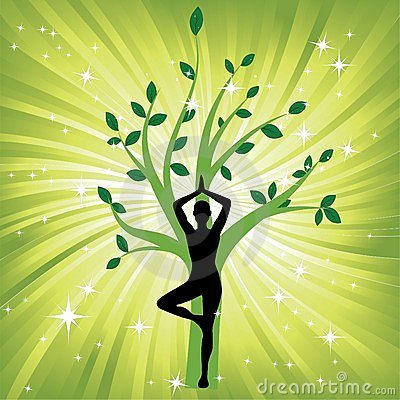 Free Woman In The Yoga Tree Asana Royalty Free Stock Photography - 23793997