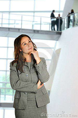 Free Woman In Thinking Pose Stock Photography - 2601202