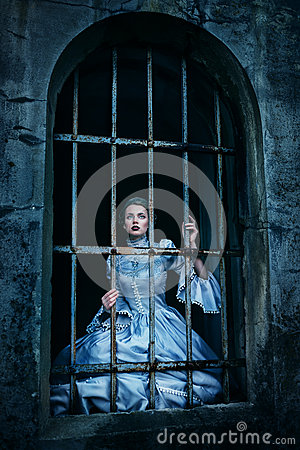Free Woman In Victorian Dress Stock Photo - 49264100