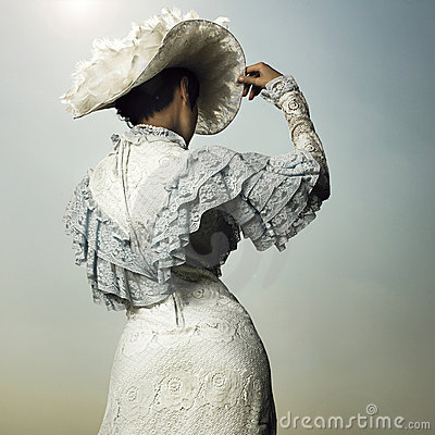 Free Woman In Vintage Dress Royalty Free Stock Photo - 15384315