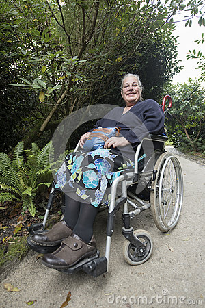 Free Woman In Wheel Chair Stock Image - 47874121