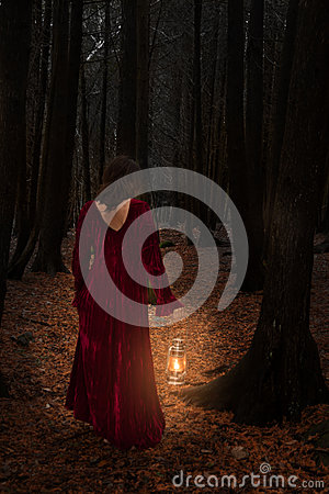 Free Woman In Woods Stock Images - 30327764