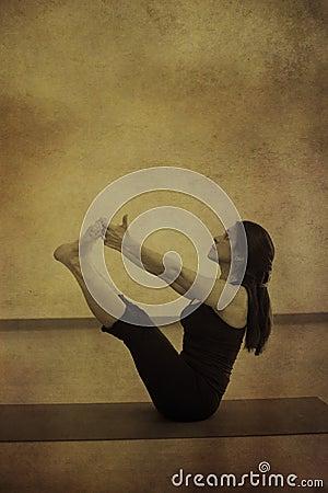 Free Woman In Yoga Navasana Royalty Free Stock Photos - 17616278