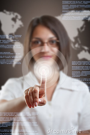 Woman with interface