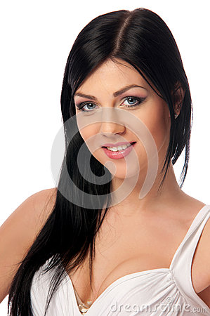 Woman on isolated background