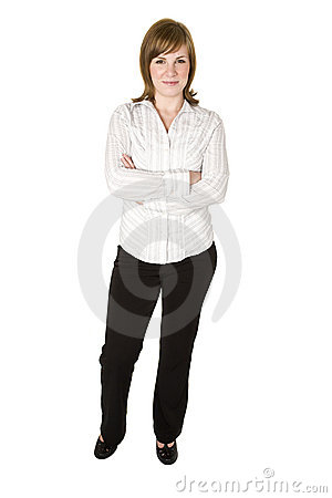 Woman isolated on white
