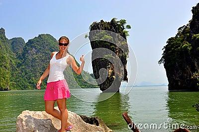 Woman at James Bond Island