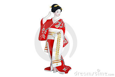 Woman in japan clothing