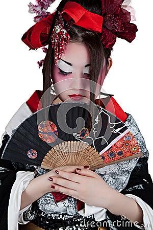 Woman in a japanese kimono