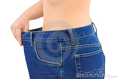 Woman and jeans - slimming