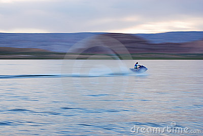Woman on Jetski Motion Blur