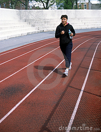 Woman Jogger Brooklyn New York USA