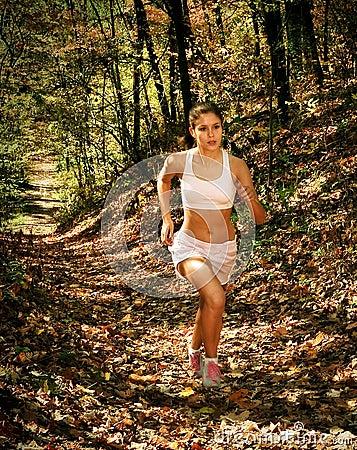 woman in jogging attire