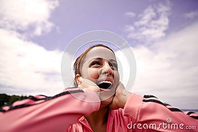 Woman in joy