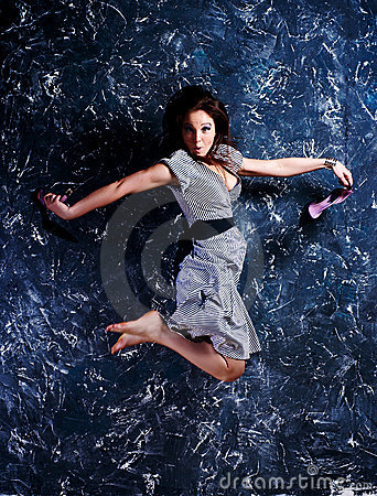 woman in a jump