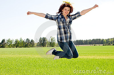 Woman in jump