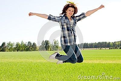 Woman in jump